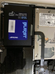 first stage final upgrade - new battery + SSD SATA
