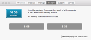 16GB memory upgrade from OWC